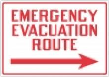 Stonehouse Signs New Emergency Shelter / Evacuation Route Signs