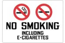 Stonehouse Signs No Smoking Including E-Cigarettes Sign