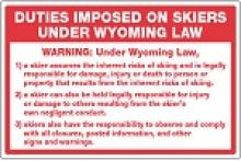 Stonehouse Signs Wyoming Ski Act Compliance Sign